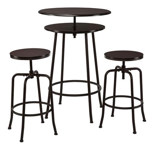 set de 3 piezas banco y mesita para bar antro cantina holly
