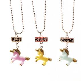 la mejor actitud f166b 10357 Set De 3 Piezas De Collar Para Los Mejores Amigos Unicorn
