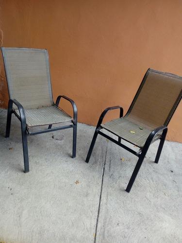 set de 3 sillas de jardin