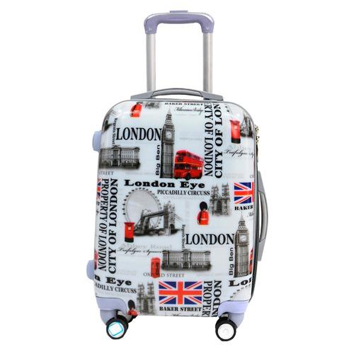 set de 3 valijas de viaje 4 ruedas rígidas dura con manija
