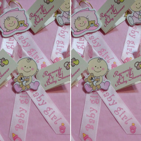 Encintados Para Baby Shower Nina.Set De 30 Encintados Baby Shower