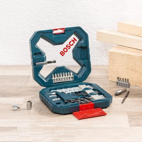 set de 34 piezas bosch x-line maletin mechas y puntas