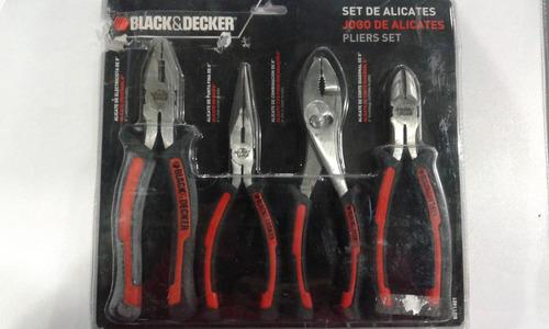 set de 4 alicates/pinzas black & decker