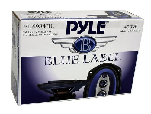 set de 4 altavoces de carro pyle pl6984bl 6x9'' 800w de 4