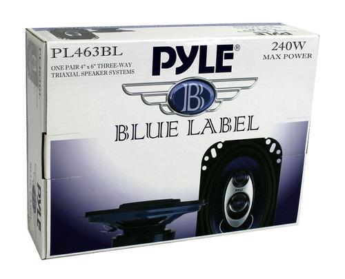 set de 4 altavoces para carro pyle pl463bl de 4x6'' 240w 3