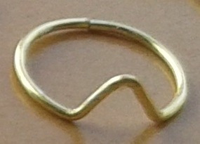 set de 4 anillos mediodedo cuarteto midi ring x 4