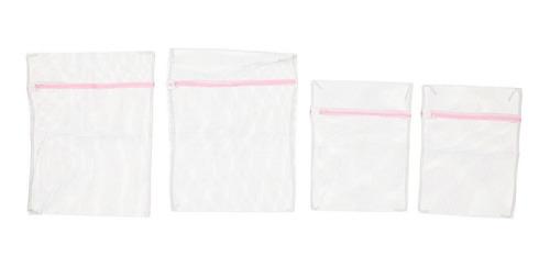 set de 4 bolsas mumuso para lavanderia semi trasparente