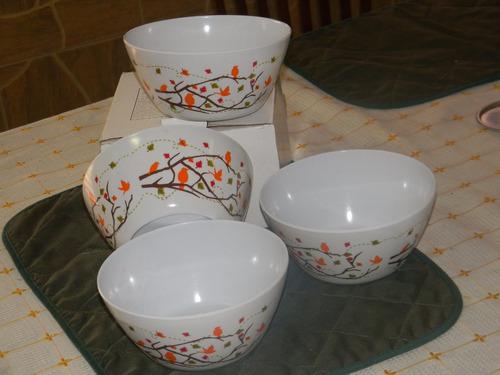 set de 4 bolws plasticos