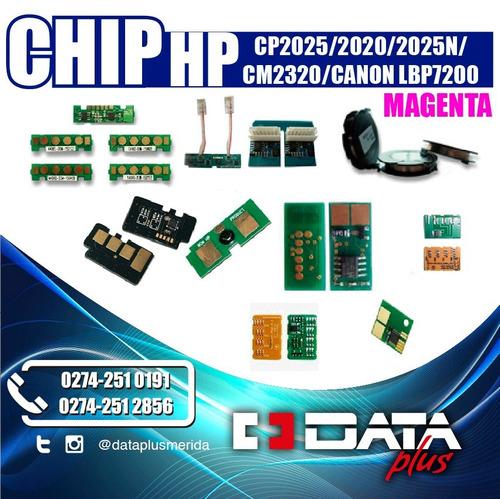 set de 4 chips hp cp2025/2020/2025n/cm2320/, magenta
