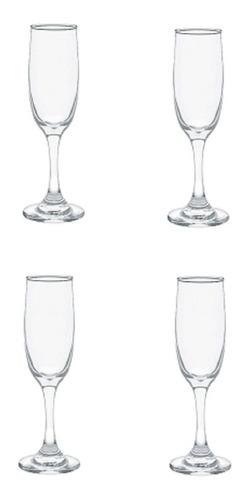 set de 4 copas cristar premier champaña  de vidrio