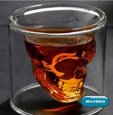 set de 4 doomed shot de cristal craneo calavera