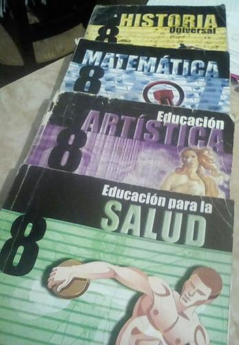 set de 4 libros de 8vo grado santillana
