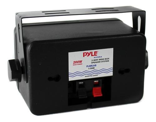 set de 4 mini altavoces de caja pyle plmr24b de 3.5'' de
