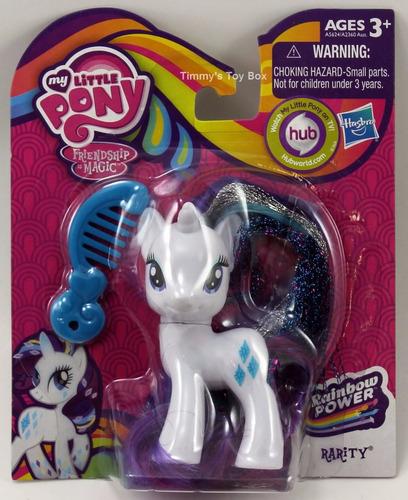 set de 4 my little pony rainbow power crystal ponies