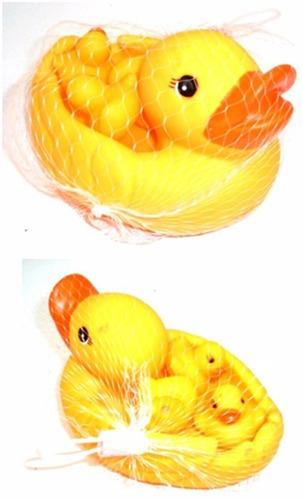 set de 4 pato de hule o goma chillones pato de baño 12 cm
