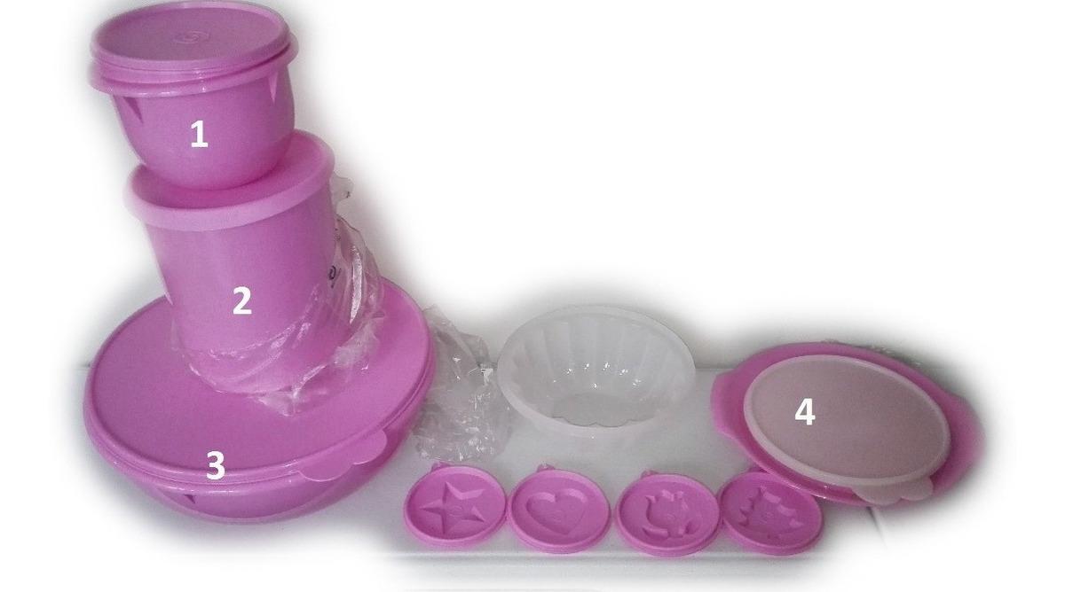 Set De 4 Piezas Tupperware - súper Tazon Batir Bote Gelette