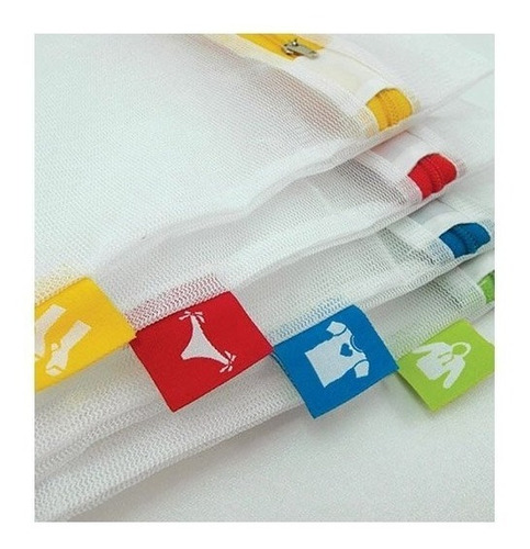 set de 4! red malla bolsa para lavar ropa lavadora secadora