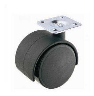 set de 4 ruedas de plástico con base cuadrada giratoria 30mm