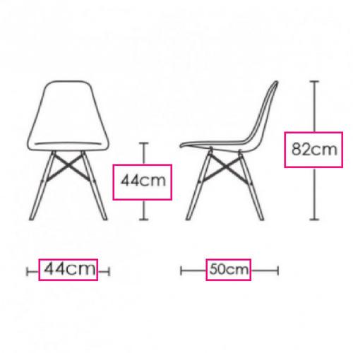 set de 4 sillas eames blanca