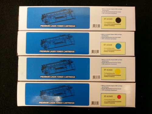 set de 4 xerox phaser 6360 cartuchos compatibles color toner