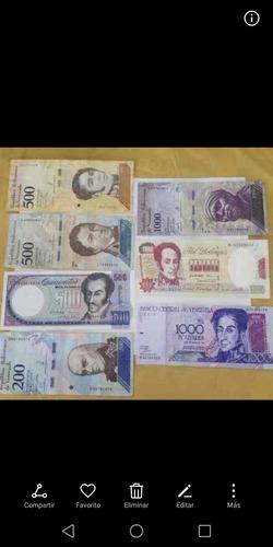 set de 44 billetes venezolanos de coleccion. 40 u$a.