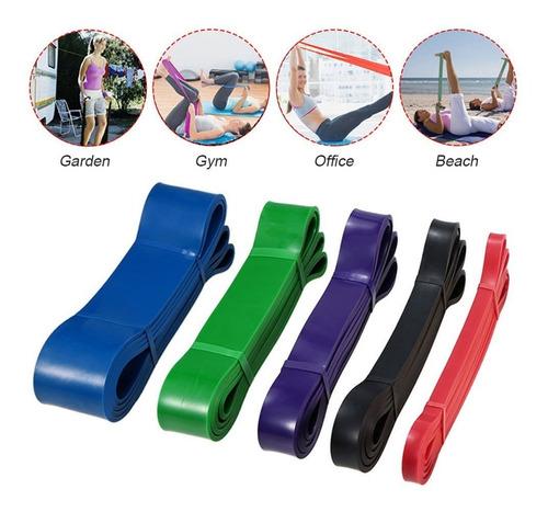 set de 5 bandas de resistencia bandas elásticas crossfit gym