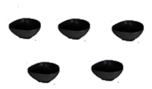 set de 5 bowls de ceramica ireegulares negros