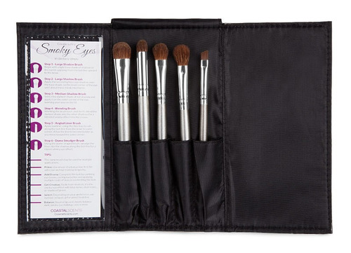 set de 5 brochas/pinceles coastal scents, 100% original