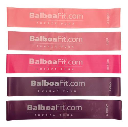 set de 5 mini bandas elasticas yoga balboafit retiro