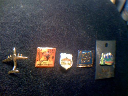 set de 5 pin de coleccion