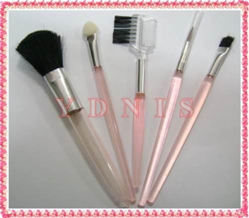 set de 5 pinceles de maquillaje para rubor sombras labios
