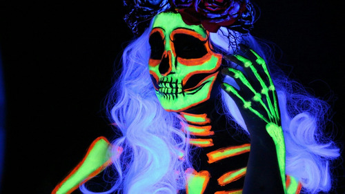 set de 5 pintura body paint 30 ml neon pintucarita party