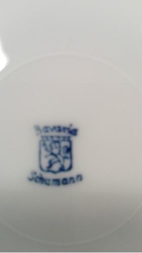 set de 5 platos antiguos de porcelana calados