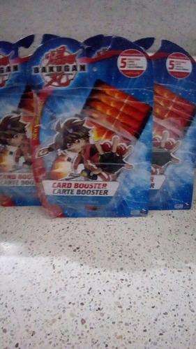 set de 5 tarjetas magneticas bakugan