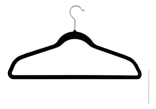 set de 50 ganchos de ropa con terciopelo negros