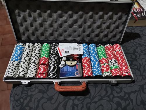 set de 500 fichas de poker, licencia nba poco uso