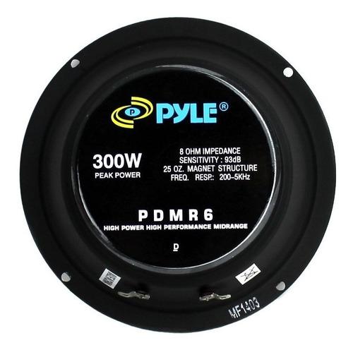 set de 6 altavoces de carro pyle pdmr6 de rango medio 6.5''