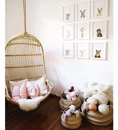 set de 6 cuadros para cuarto de bebes estilo nordico