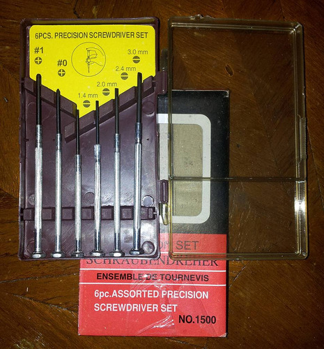 set de 6 destornilladores de precision
