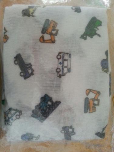 set de 6 pañales de tela 100% algodón