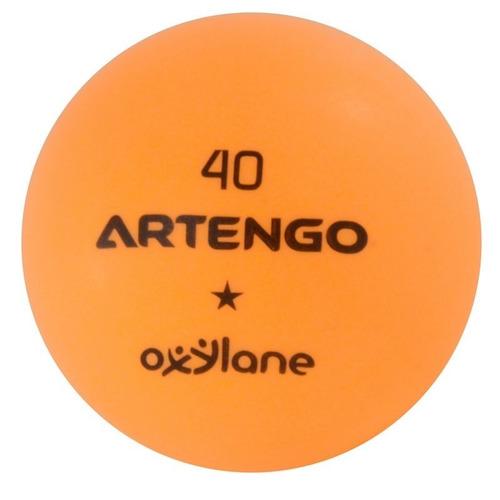 set de 6 pelotas artengo 1 estrella para ping pong