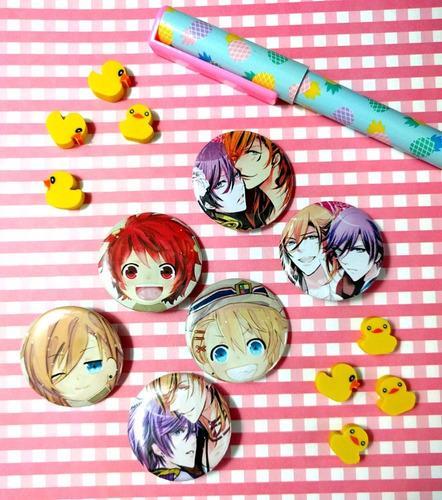 set de 6 pins prendedores de anime uta no prince pines