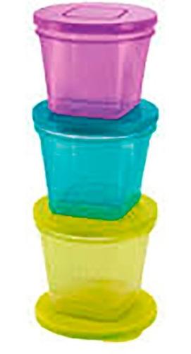 set de 6 potes para alimento nuk fresh foods apto freezer