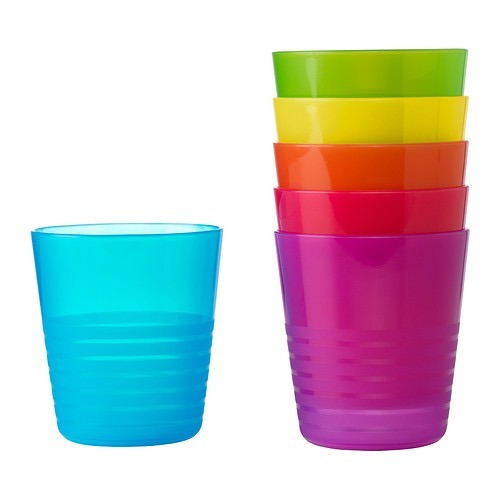 set de 6 vasos plásticos ikea para niños