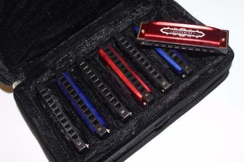 set de 7 armonicas diatonicas cobre jh1020a7-1 cuota