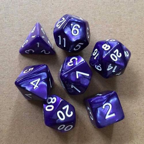 set de 7 dados para rol rpg magic yugioh