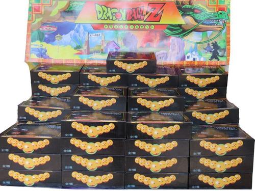 set de 7 esferas del dragón chicas con exhibidor dragonball
