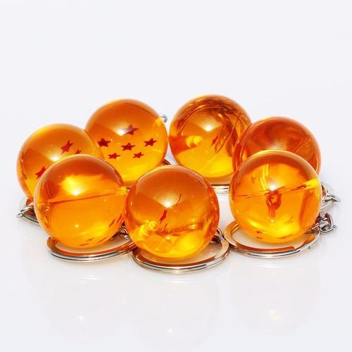 set de 7 llaveros esferas del dragón dragon ball z envío gts