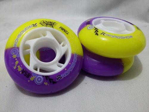 set de 8 llantas chicas para patines en linea 72mm