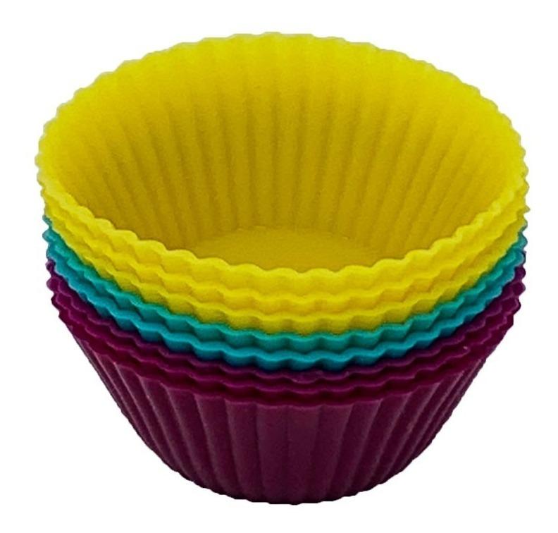 Set De 8 Moldes Silicon Para Hornear Cupcakes Panques 5 Cm